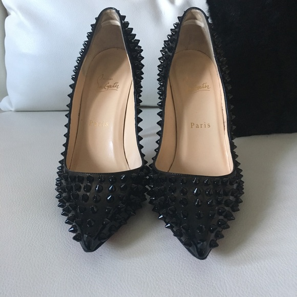Christian Louboutin Shoes - Christian Louboutin Patent Spiked Pigalle